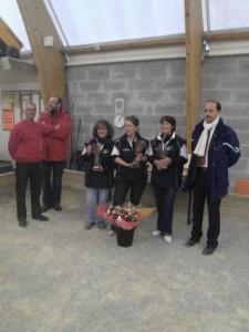 Remise des récompenses aux championnes du Morbihan de pétanque 2012