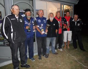 Les champions et finalistes du doublette vétéran 2012 à Plouay