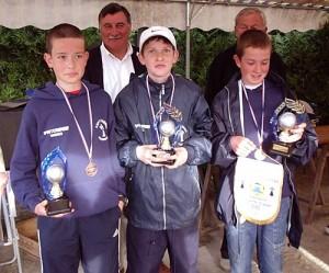 Les champions de pétanque cadet de l'ASPTT Vannes