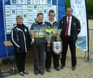 Maeva Bruneteau et Bryan Le Marrec champions de pétanque mixte.