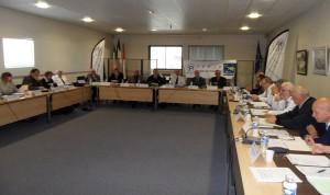 La ligue de Bretagne de petanque dans la salle du conseil municipale de larmor Plage