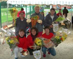Finalistes et championnes du Morbihan de petanque 2006