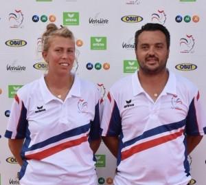 Champions de France doublette mixte FFPJP 2016 Darodes et Feltain