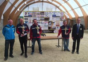 champions du Morbihan de petanque triplette promotion 2017 de l'ASPTT Vannes