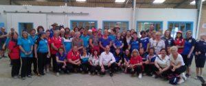 le président du CD56 avec les féminines au stage départemental