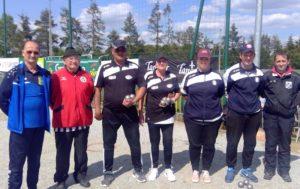 Présentation des équipes finalistes du championnat du Morbihan doublette mixte 2019